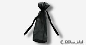 Round Organza Pouch Black