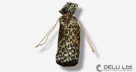 Round organza pouch in stylish leopard design