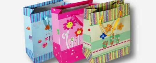 Bolsas de papel rayas multicolor