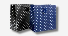 Bolsa de papel con pequeños puntos