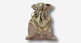 Bolsa del satén con el lazo – Plata