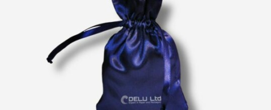 Bolsa del satén con el lazo – Azul royal