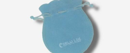 Bolsa de la joyería de terciopelo – Cielo azul