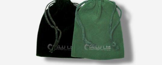Bolsas de lazo de terciopelo