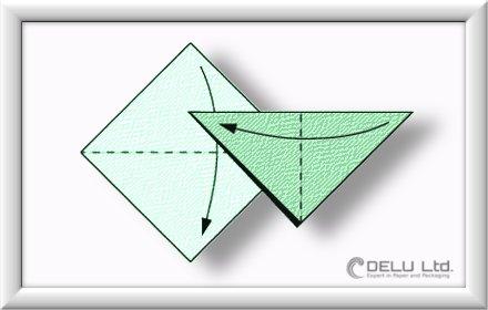 Cómo doblar la grúa de origami paso a paso-001