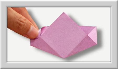 Cómo doblar Kusuduma Origami flor paso a paso-006