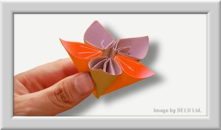 Cómo doblar Kusuduma Origami flor paso a paso-015