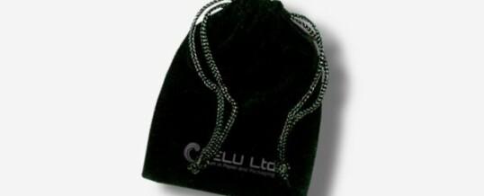 Bolsa de cordón de terciopelo – Negro