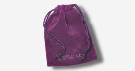 Bolsa de cordón de terciopelo – Púrpura