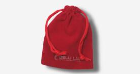 Bolsa de cordón de terciopelo – Rojo