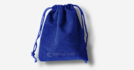 Bolsa de cordón de terciopelo – Zafiro
