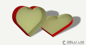 Corazón en forma de cajas de regalo