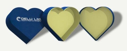 Corazón en forma de caja de regalo – Azul