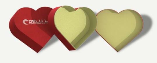 Corazón en forma de caja de regalo – Rojo