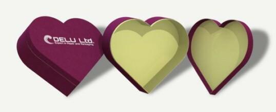 Corazón en forma de caja de regalo – Lila