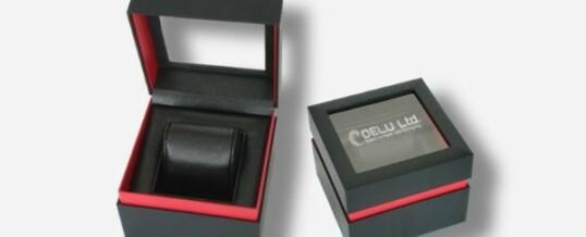 良い 時計ボックス ブラック/レッド