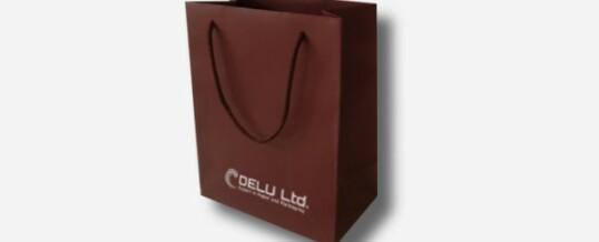 紙袋-プレーン茶色;マット仕上げ
