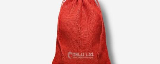 ジュート袋  ; レッド