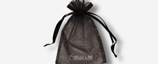 オーガンジー巾着袋 ; ブラック