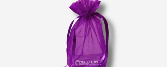 オーガンジー巾着袋 ; 紫色
