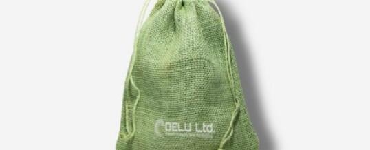 浅绿色麻布袋