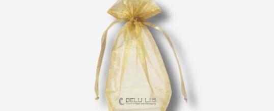 浅黄色雪纱礼品袋