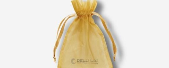 黄色雪纱礼品袋