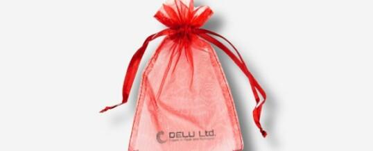 红色雪纱礼品袋