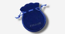 宝石蓝绒布珠宝袋