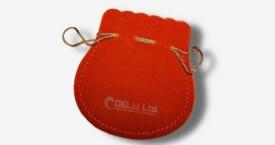 橘色绒布珠宝袋