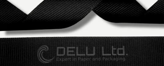黑色横纹缎带