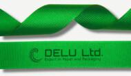 绿色横纹缎带