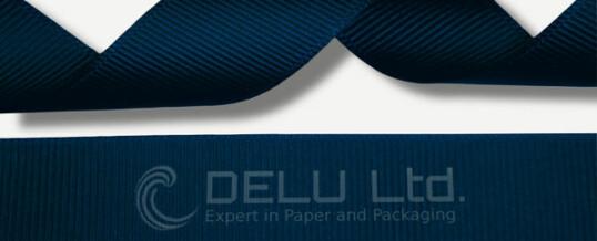 深蓝色横纹缎带