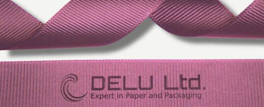 粉红色横纹缎带