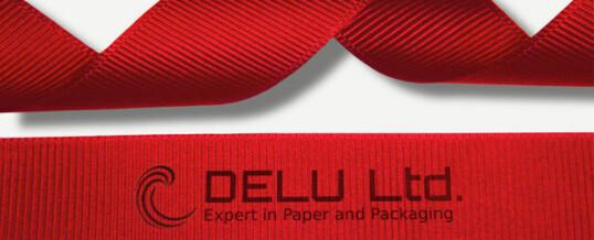 红色横纹缎带