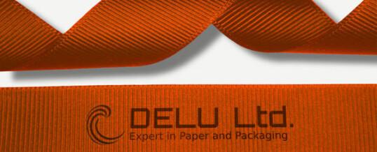 橙色横纹缎带