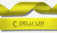 黄色横纹缎带