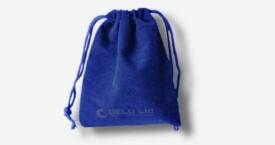 宝石蓝绒布束口袋