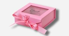 开窗丝带相片盒 粉红