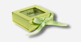 开窗丝带相片盒 绿色