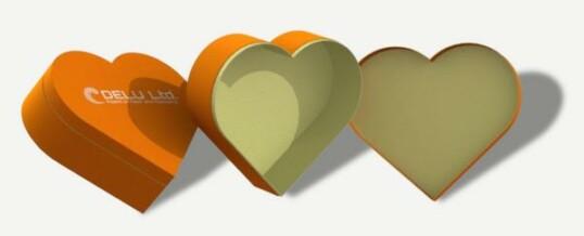 心型礼品盒 桔黄色