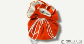 珠宝束口袋 橘黄色